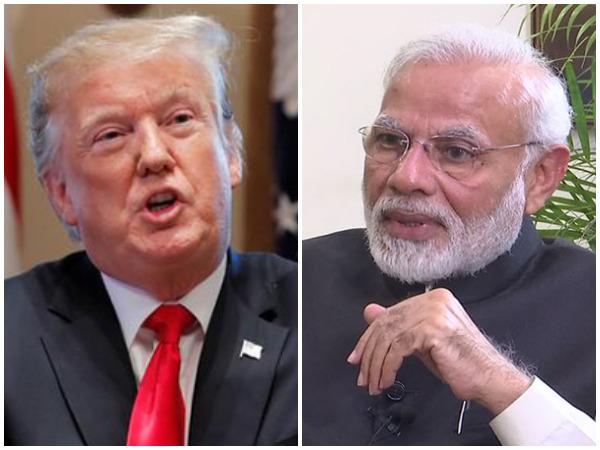 File Photo of United States President Donald Trump (left) and Prime Minister Narendra Modi (right)