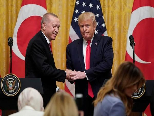 President Donald Trump with Turkish President Recep Tayyip Erdogan at White House on Wednesday