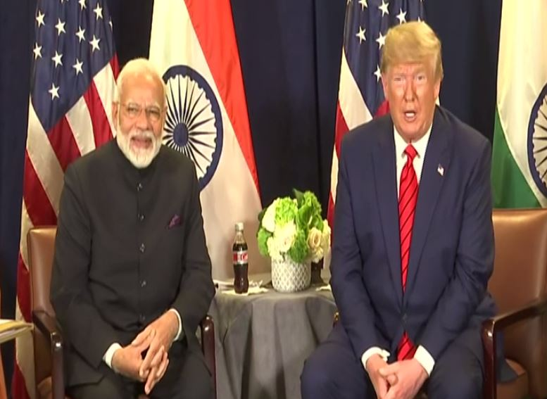 PM Narendra Modi and US President Donald Trump addressing media following a bilateral on the sidelines of UNGA session in New York on Tuesday.