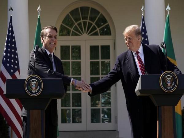 US President Donald Trump alongside his Brazilian counterpart, Jair Bolsonaro, on Tuesday at the White House