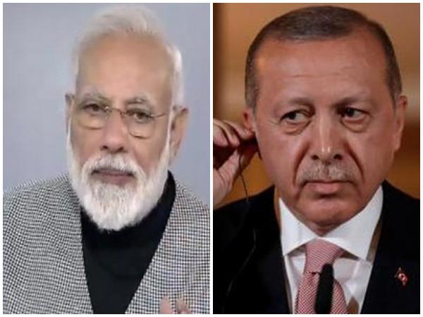 File photos of Turkish President Recep Tayyip Erdogan and Indian Prime Minister Narendra Modi