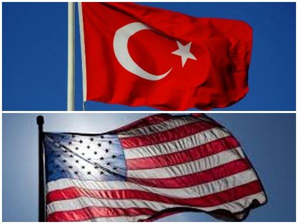 Flag of Turkey (T), flag of USA (D) (representative image)