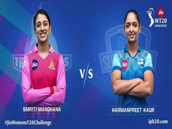 Trailblazers skipper Smriti Mandhana and Supernovas captain Harmanpreet Kaur (Photo/ IPL Twitter)