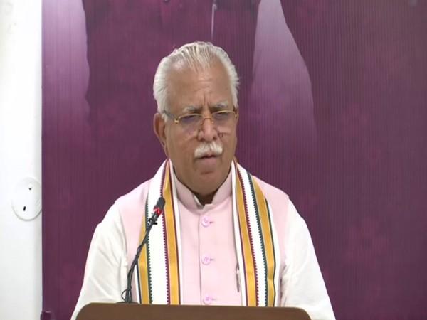 Harayana Chief Minister Manohar Lal Khattar (Photo/ANI)