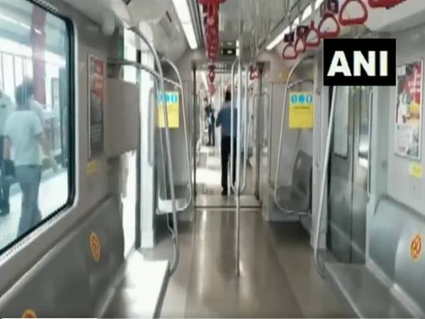 Uttar Pradesh Metro Rail Corporation began trial runs of metro trains. [Photo/ANI]