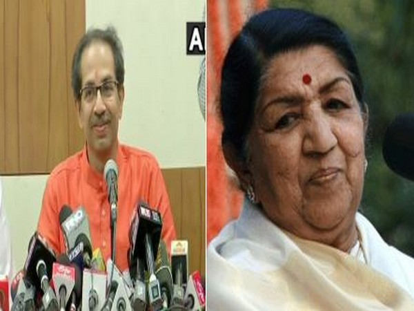 Maharashtra Chief Minister Uddhav Thackeray (l) and veteran singer Lata Mangeshkar (r)