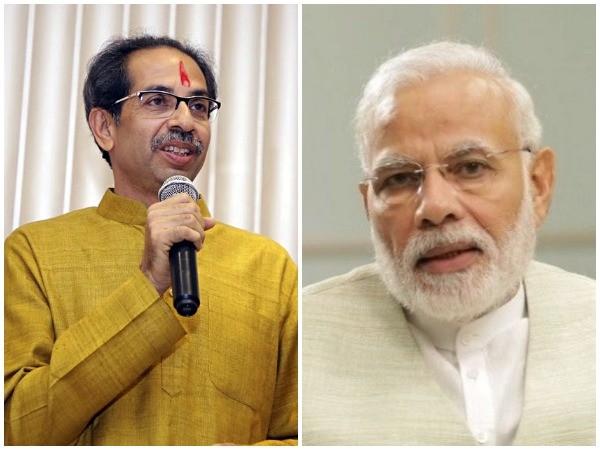 Shiv Sena chief Uddhav Thackeray (left) and Prime Minister Narendra Modi (right)