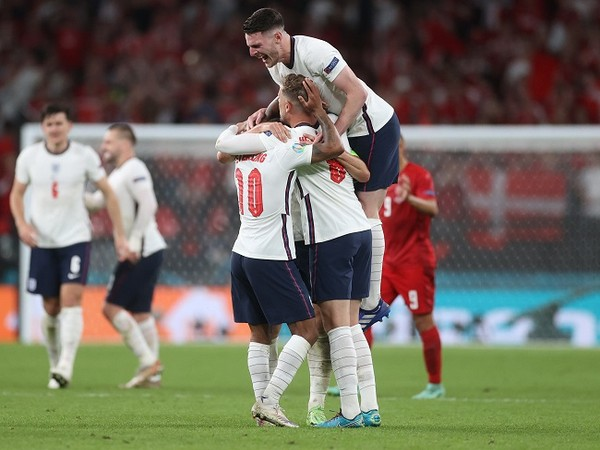 England beat Denmark 2-1 to reach Euro Cup final (Image: UEFA Euro 2020's Twitter)