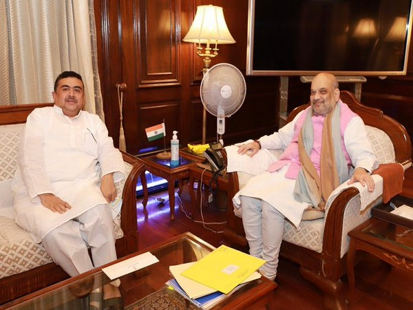 Leader of Opposition in West Bengal assembly Suvendu Adhikari with Union Home Minister Amit Shah. (Photo/Twitter)