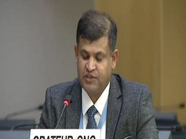 Munir Mengal at the 45th Session of the Human Rights Council.