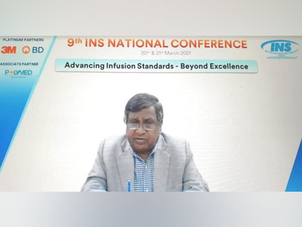 Dr T. Dileep Kumar, President - Indian Nursing Council addressing at the 9th Infusion Nurse Society conference on the theme 'Advancing Infusion Standards - Beyond Excellence'