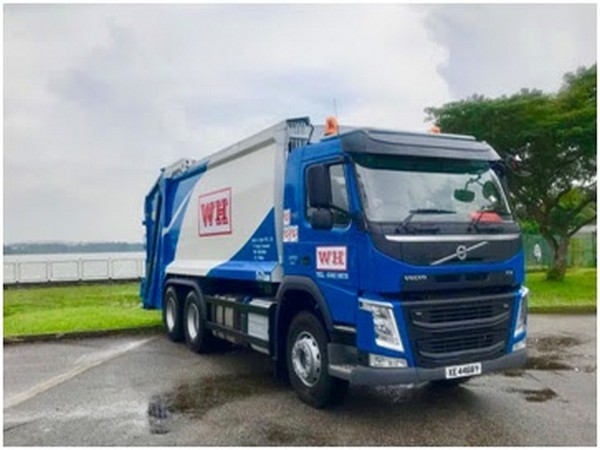 Waste collection trucks operated by Wah & Hua in Singapore. Photo: Wah & Hua Pte. Ltd.