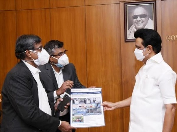 G.A. Balaji, Chief Financial Officer and Suresh Babu, VP - Human Capital of Bonfiglioli presented the Project details on the company's contribution to M.K. Stalin, CM of TN