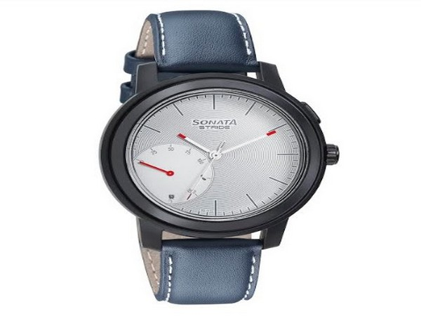 Stride Pro - Hybrid Smartwatch with White Dial & Blue Leather Strap