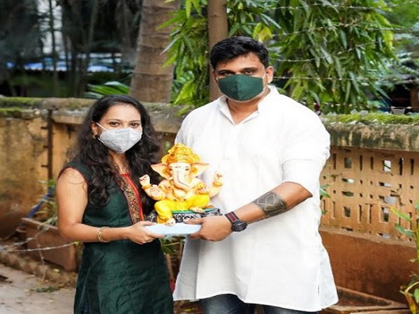 Right to Left - Chirag Palande, Founder and Komal More, Project Head - EcoGanesha