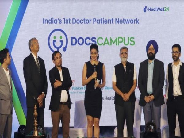 L to R: Chittaranjan Mishra, Dr. Govind Babu, J K Singha, Gul Panag, Dr. Purvish Parikh, Manmeet Singh, Dr. Prashant Mehta at DocsCampus Launch