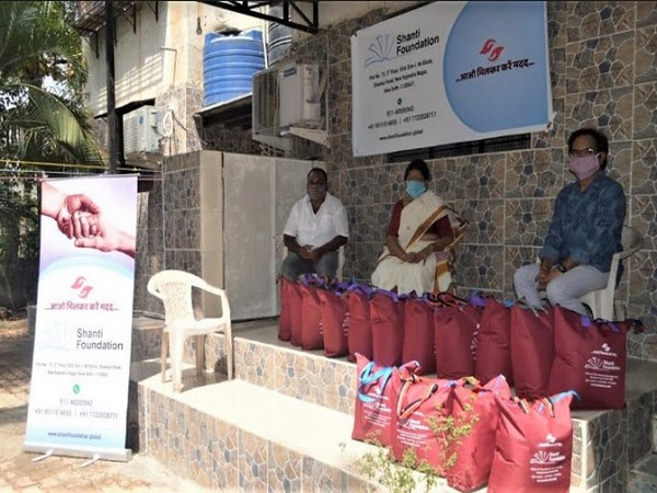 Shanti Foundation distributed food essentials to needy