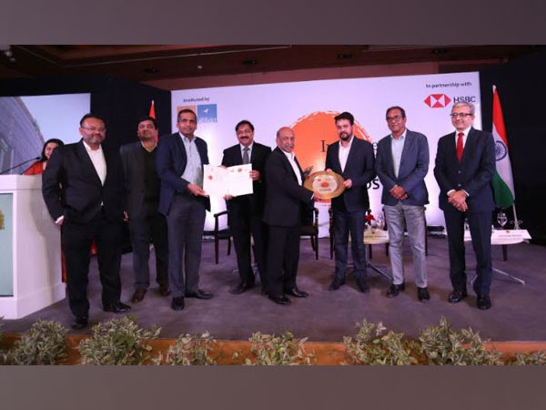 ISFC's CEO Anil Mehta felicitated by Anurag Thakur, MoS Finance and Corporate Affairs, GoI.