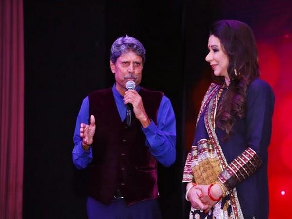 Vandana Luthra with Kapil Dev