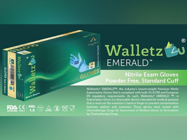 Walletz4U Emerald Nitrile Exam Gloves