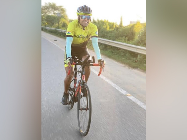Lt Col Bharat Pannu on his Guinness World Record Solo Cycling expedition captured in Pune on 26th October