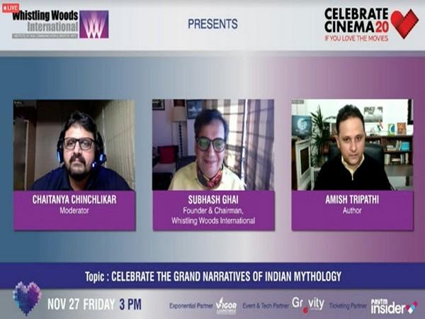 Celebrate Cinema 2020 hosted numerous fascinating panels. WWI interacting with award-winning author, Amish Tripathi discussing how to 'Celebrate the Grand Narratives of Indian Mythology'