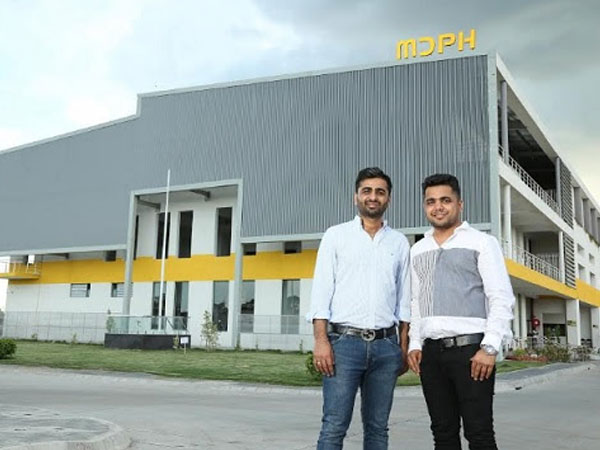 Ankit Agrawal, Director MDPH and Anshul Director MDPH in front of their manufacturing facility in Indore, Madhya Pradesh