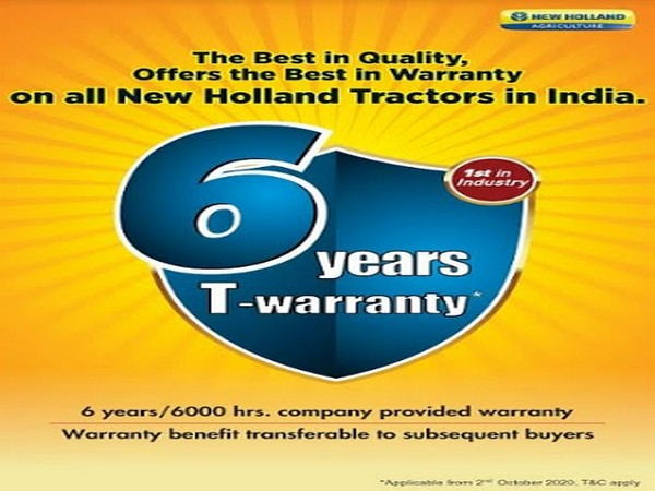New Holland Agriculture - 6 years T-warranty policy