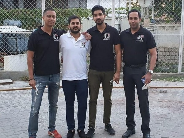 Team H.O.P.E comprising of Left to Right: Pratik, Shashank, Sharath, Naushik