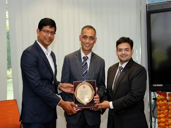 L to R: Bhanu Prasad, COO, Edsanta Education, B V Sudharshan, Deputy Managing Director, NTTF, Rohan Krishna, CEO, Edsanta Education