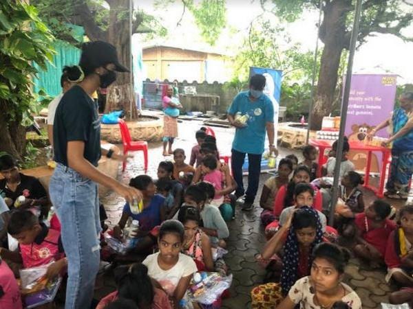 NutriBears Immuno-boost gummies were distributed to underprivileged children in Mumbai
