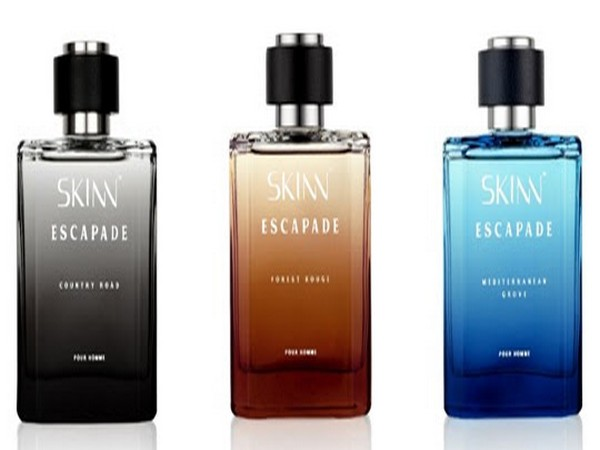 The three variants of SKINN Escapade Country Road, Forest Rouge and Mediterranean Grove, priced at Rs 2395 for 100ML