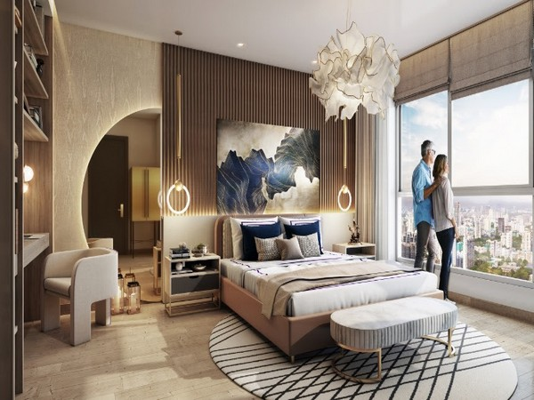 Artist impression of the spacious master bedroom in Skyline collection