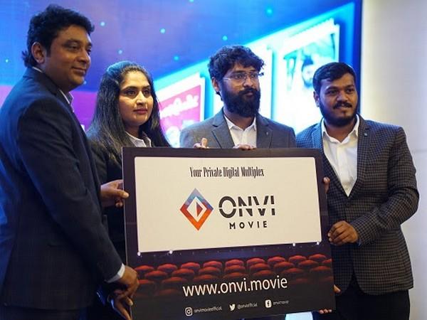 From L-R: Sabary, Content Acquisition Head, Jayanthi Devarajan, Director, Vignesh Chinnadurai, Creative Head, Ganesh, Business Head of ONVI.MEDIA