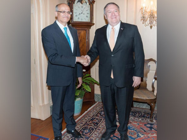 India's Foreign Secretary Vijay Gokhale on Monday met US Secretary of State Michael R Pompeo on Monday in Washington D.C.
