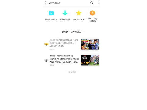 Watch Video Feature - Screenshot from UC Browser