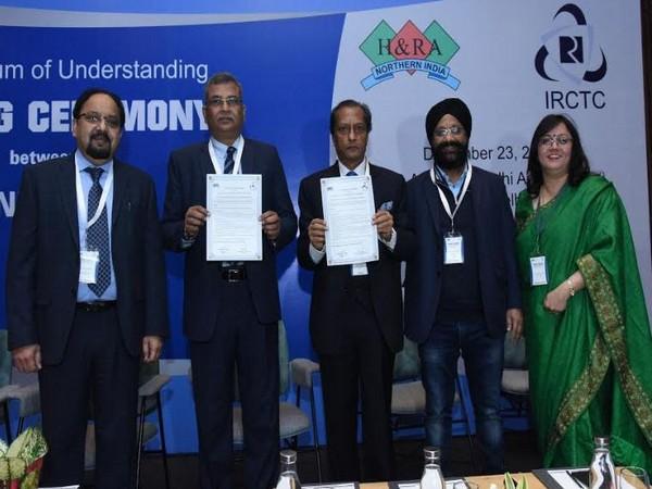 Garish Oberoi, Treasurer, HRANI, M.P. Mall, CMD, IRCTC, Surendra Kumar Jaiswal, President HRANI, Amarvir Singh, Hony Secretary, HRANI, Renu Thapliyal, Secretary General, HRANI