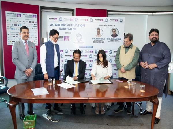 From L to R- Asit Singh, Kiren Rijiju, Prof Sibnath Deb, Director, Meghna Ghai Puri, Subhash Ghai, Chaitanya Chinchlikar