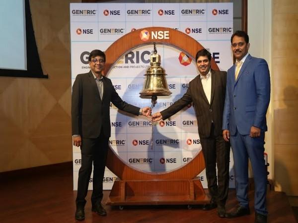Bell Ringing Ceremony, Jayesh Rawal, Director; Manish Patel, MD, and Tarak Gor, CFO