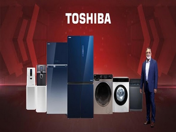 Pranab Mohanty, Vice President, Toshiba Home Appliance Business launching the 2020-21 range of Toshiba Home Appliances