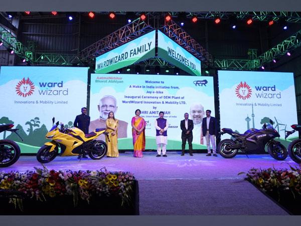 Virtual Inauguration of Wardwizard Plant by Amit Shah, Yatin Gupte, Ranjanben Bhatt, and Rajendra Trivedi