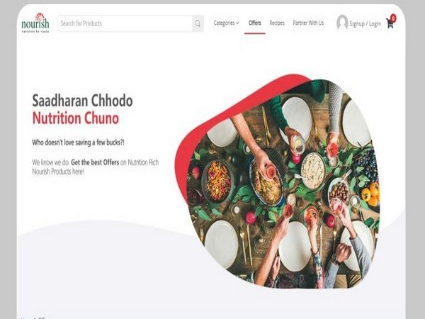 Nourish Store Website