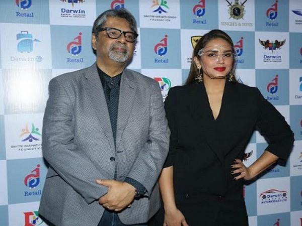 "Raja Roy Choudhury, (Group CEO, DPGC) and Ms. Huma Qureshi at opening of ""DP Retail"""