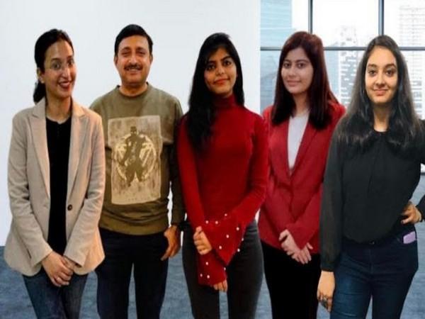 From Left to Right: CA Rashi Bajpai, CA J. Jambukeswaran, Leesha Arya, Mehak Malik & Komal Kwatra