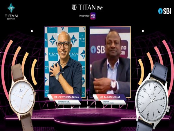 C K Venkataraman, Managing Director, Titan Company Limited and Rajnish Kumar, Chairman, SBI