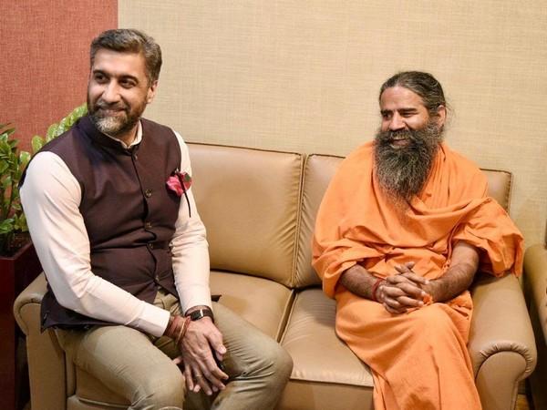 Nikhil Nanda and Swami Ramdev
