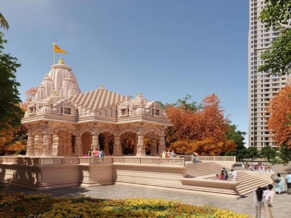 Artist's Impression of ISKCON Temple complex at Piramal Vaikunth in Thane