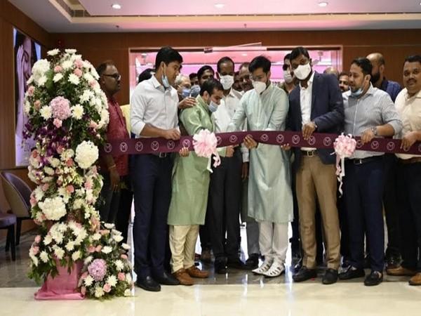 Indian film actor Sabyasachi Mishra inaugurating the first showroom of Malabar Gold and Diamonds in Bhubaneswar.