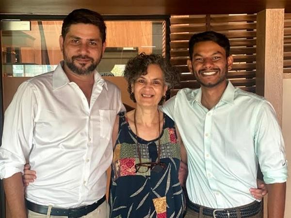 Producers Karan Singh and Tanuj Bhramar with Director Veena Bakshi