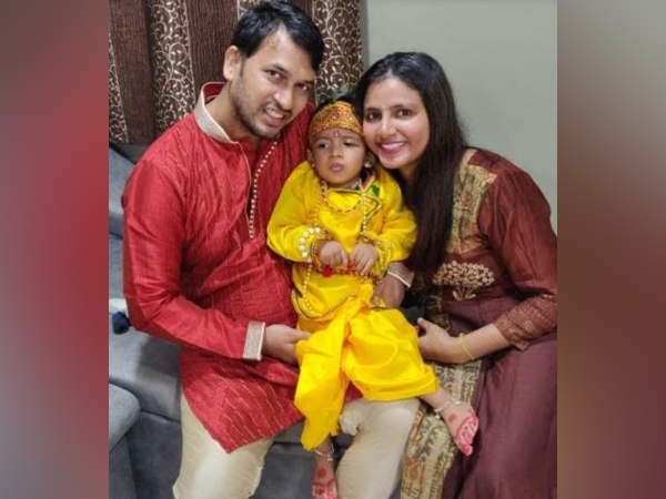 Parents Yogesh Gupta, Rupal Gupta with son Ayaansh Gupta